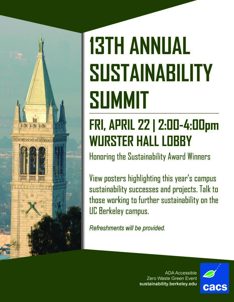13th Annual Sustainability Summit flyer