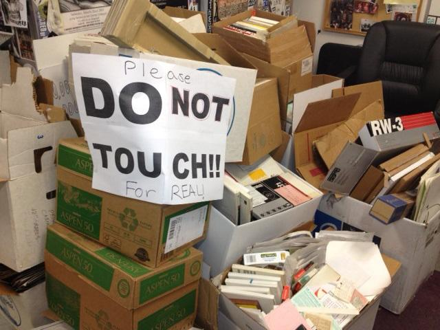 a recycling effort at the Barrow's Hall radio station