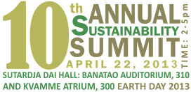 graphic for 2013 Sustainability Summit