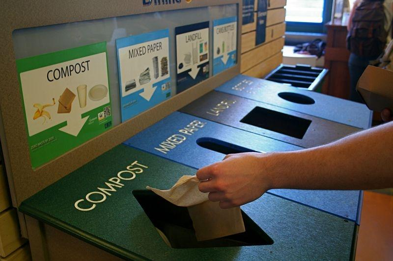 recycling compost and landfill receptacles