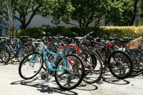 bikes at Wurster Hall, UC Berkeley