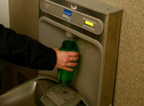 water refill station, UC Berkeley campus