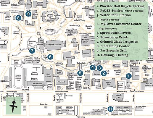 graphic of sustainability walking tour