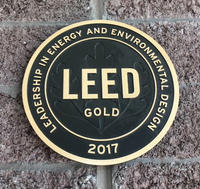LEED certification medal 2017