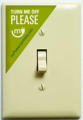 myPower light switch decal