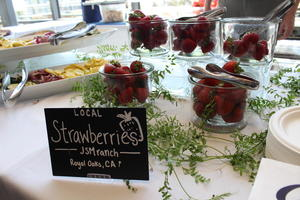 California local strawberries at 2018 Sustainability Summit