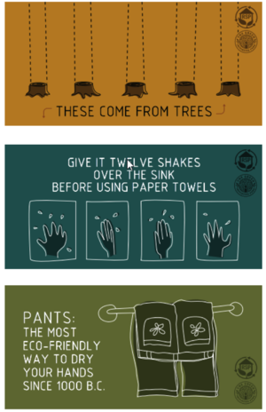 graphic to save trees by conserving paper towels