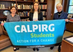 Kira Stoll, Nicole Haynes, Chancellor Carol Christ