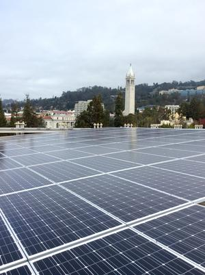 solar panels on campus MLK building