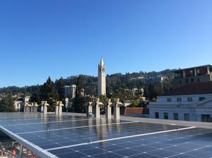 solar panels on MLK building on campus