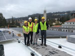 solar panel installation team at UC Berkeley
