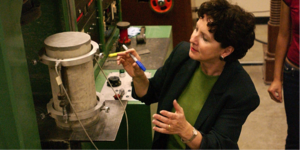 Prof. Claudia Ostertag, Civil and Enviro Engineering, creates new concrete composites to reduce GHG emissions