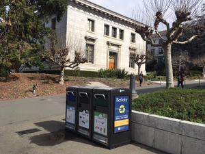 solar bins near Wheeler Hall