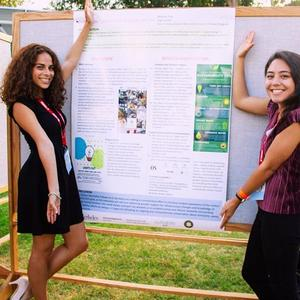 Student fellows at Sustainability Summit poster session