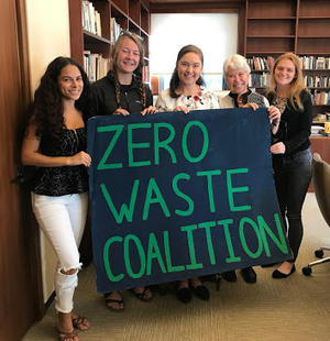 Zero Waste Coalition Leaders meet with Chancellor Christ