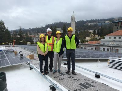 Solar Team Members on the MLK Roof